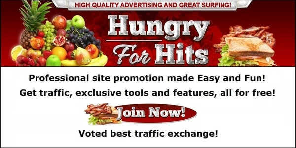 Hungry For Hits free traffic exchange banner