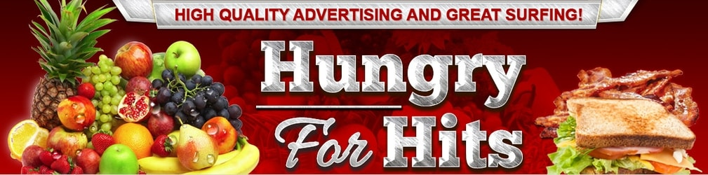 Hungry For Hits traffic exchange header